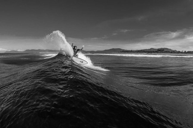 Chris Del Moro. Style that is reflected in their surfing. Photo: Banks.