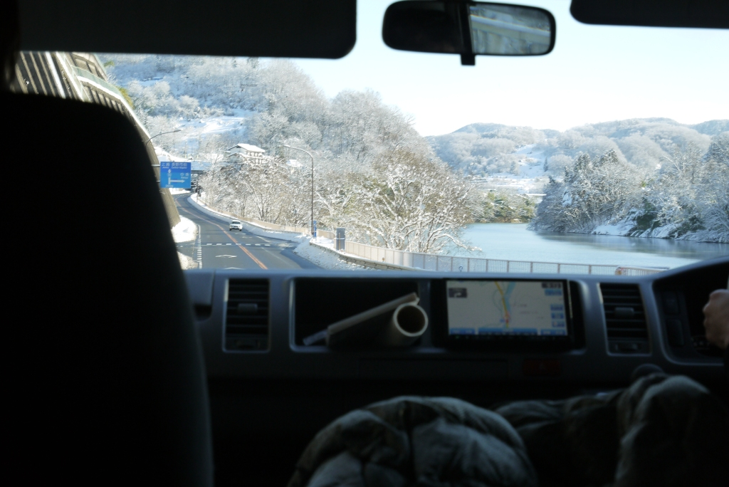 On the road. Somewhere in Nagano.
